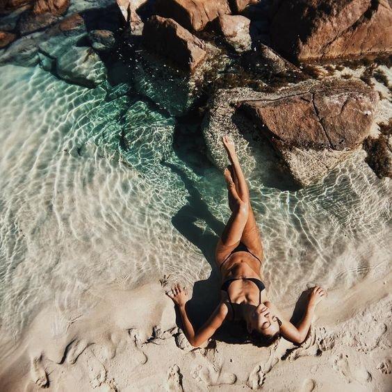 water, rock, girl, fun, vacation,