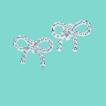 Tiffany Co Rope Bow Earrings