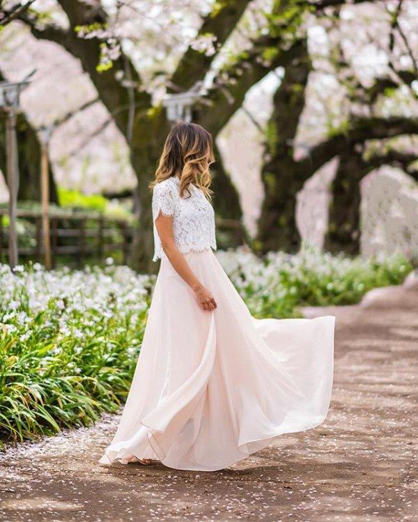 woman, woodland, wedding dress, dress, petal,