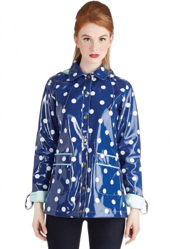 Rain Dots Keep Falling Raincoat