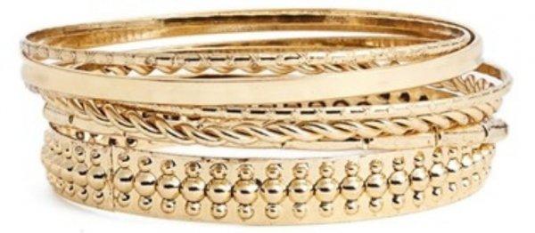 Textured Gold Bangles