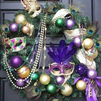 Mardi Gras Holiday Wreath