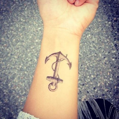 Anchor, tattoo, arm, leg, finger,