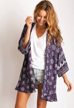 Aboriginal Print Kimono