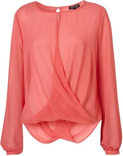 Topshop Drape Front Blouse