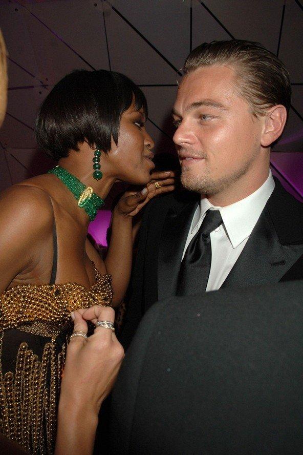 Leonardo DiCaprio and Naomi Campbell