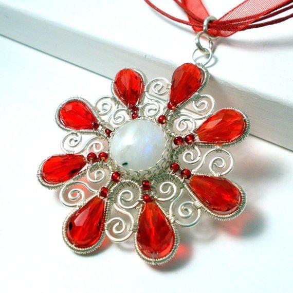 Winter Snowflake Pendant Necklace