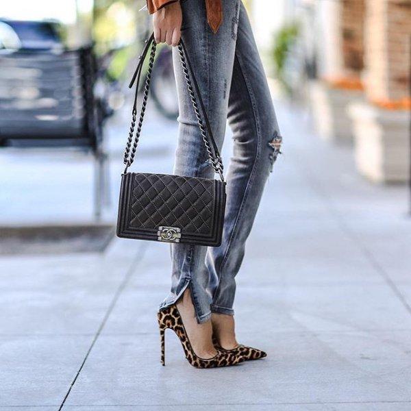 clothing, footwear, pattern, leather, denim,