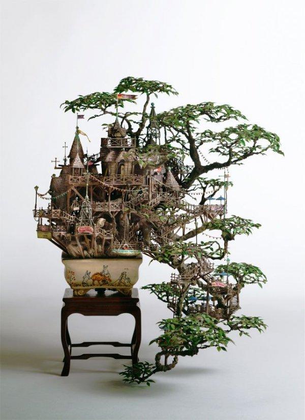 tree,sculpture,flower,art,lighting,