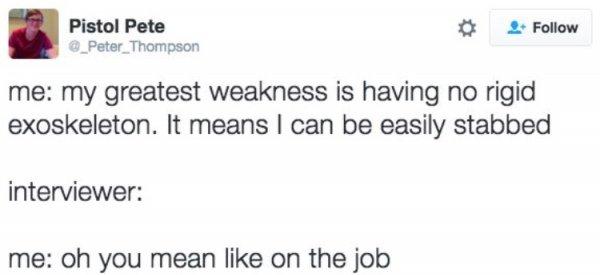 Biggest Weakness