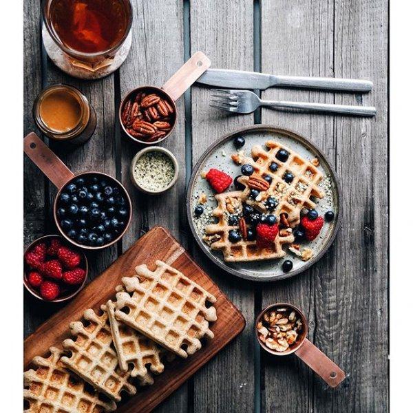 dish, meal, food, breakfast, waffle,