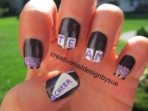 Cheerleader Nails 36 Sports Nail Art Ideas That Will Make You