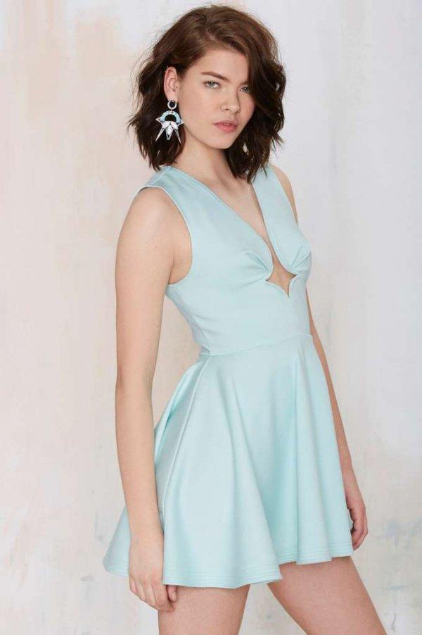 Nasty Gal You Crazy Diamond Cutout Dress