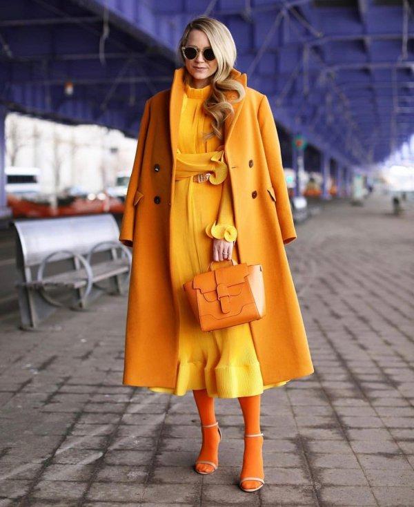 yellow, coat, fashion model, orange, fashion,