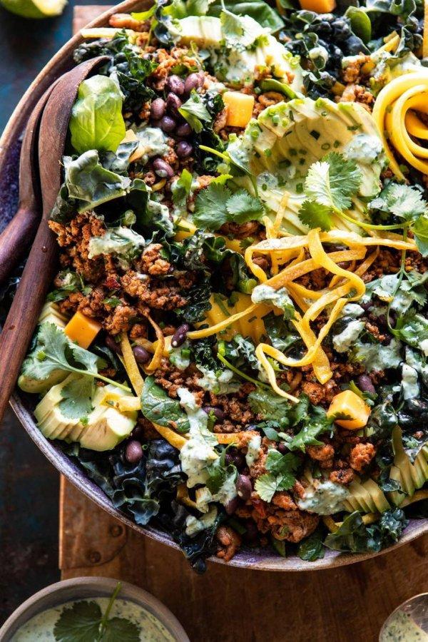 Food, Dish, Salad, Cuisine, Spring greens,