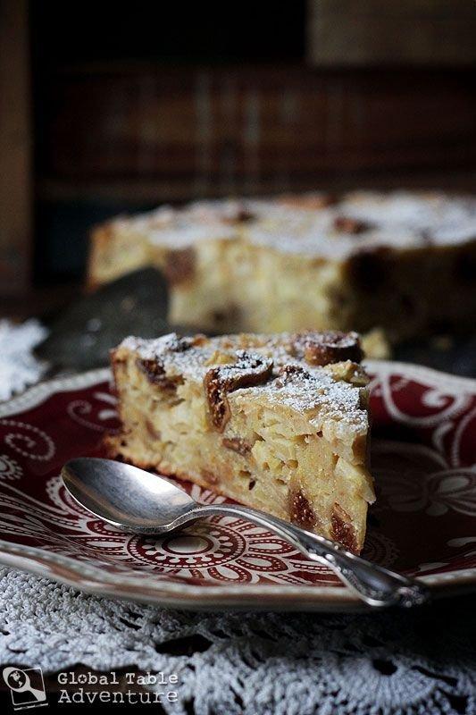Figs & Honey Apple Polenta Cake