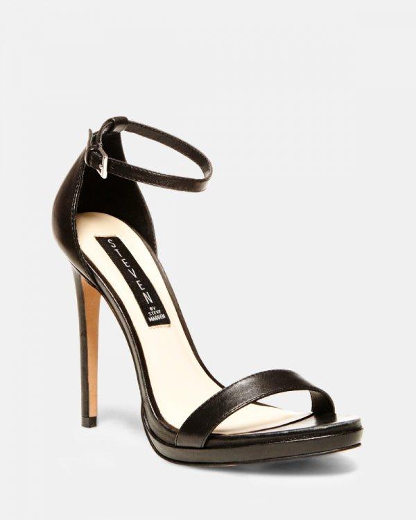 Steven Rykie Black Sandals