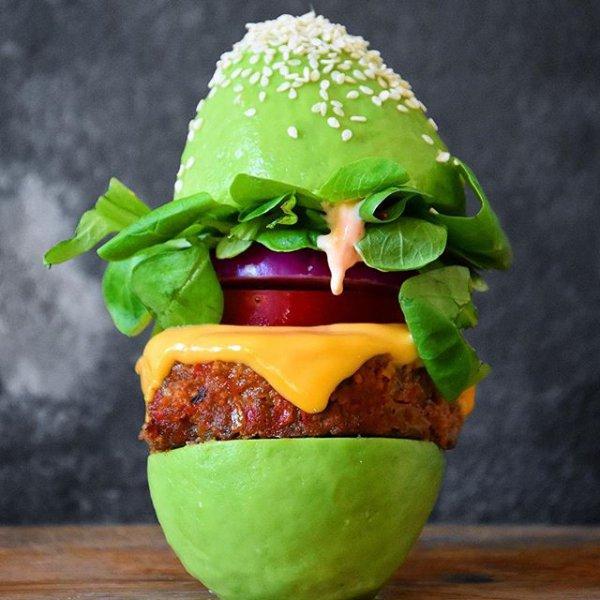 food, dish, produce, hamburger, vegetable,