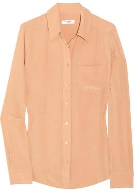 Equipment Brett Washed-Silk Shirt