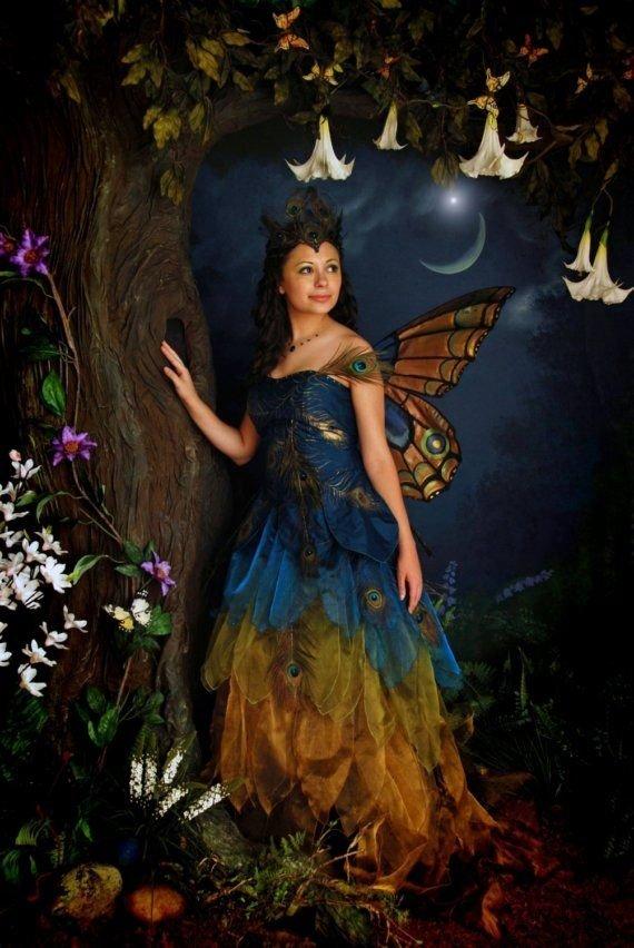fairy,dress,autumn,mythology,flower,