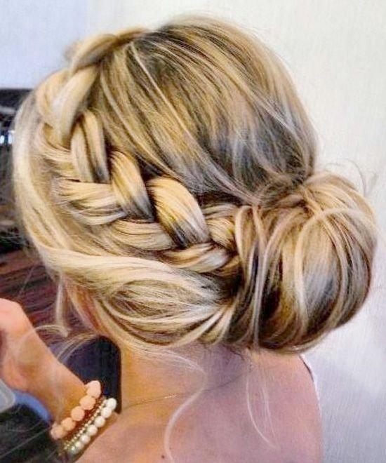 Side Braid Bun - 7 Easy Bun Hairstyles for Busy Days ... …