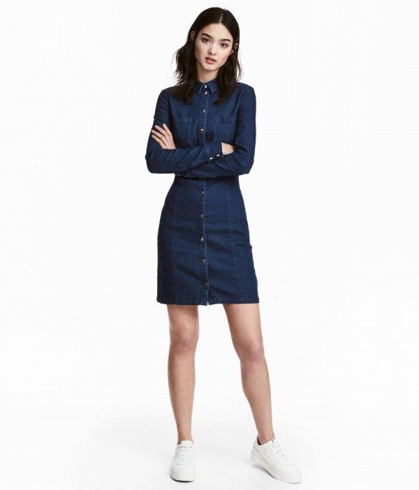 clothing, sleeve, denim, dress, outerwear,