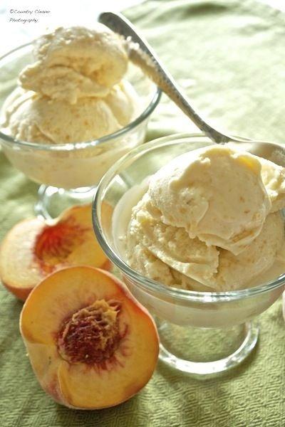 Peach Custard Ice Cream