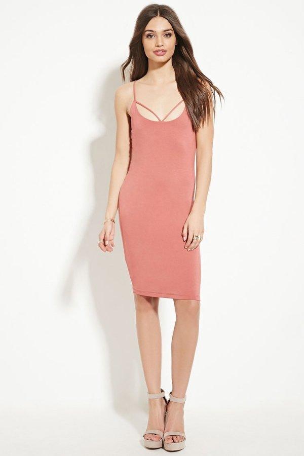 Crisscross-Back Bodycon Dress