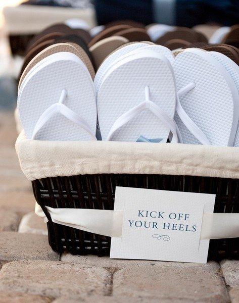 Place a Basket of New Flip Flops near the Dance Floor