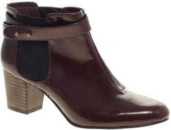 ASOS Alpini Patent Chelsea Ankle Boots