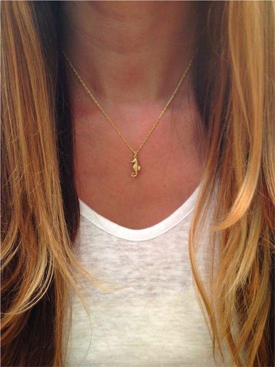 Seahorse Necklace (or Brooch)