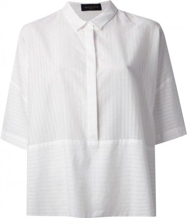Piazza Sempione Striped Boxy Shirt
