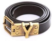 Yves Saint Laurent Skinny Y Belt