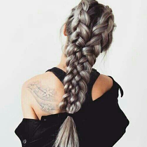 hair, hairstyle, braid, french braid, long hair,
