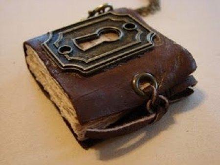 Miniature-book Necklace