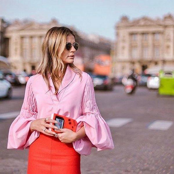 pink, clothing, sleeve, dress, spring,
