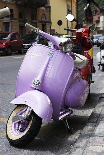 Lilac Vespa