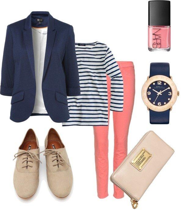 Stripes, Blazer and Brogues