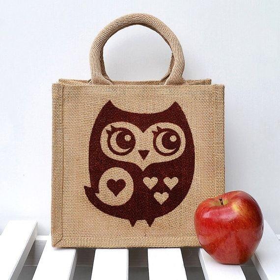 Owl on Burlap