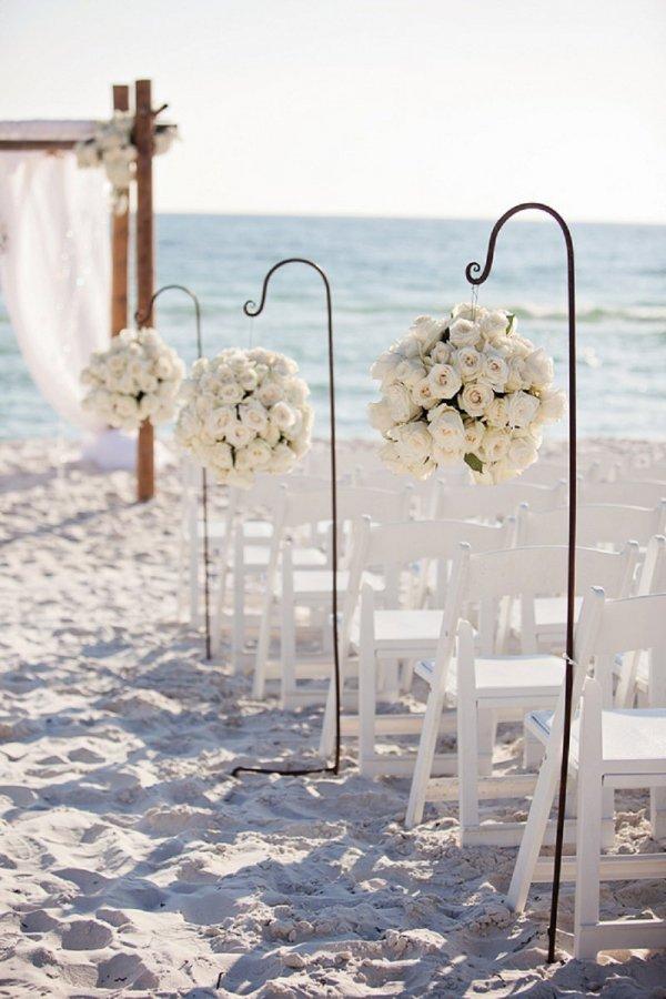 Roses along the Wedding Aisle