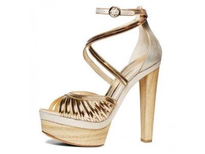 4 Stylish Metallic Donna Karan Platform Shoes ...