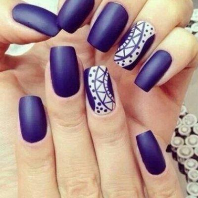 Matte Nail Art Inspiration Thatll Make You Look Elegant ...