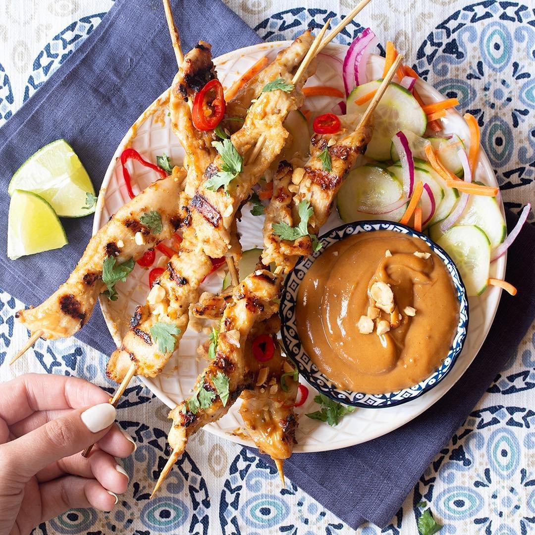Recipe 😋 for Skinny Chicken 🍗 Satay ...