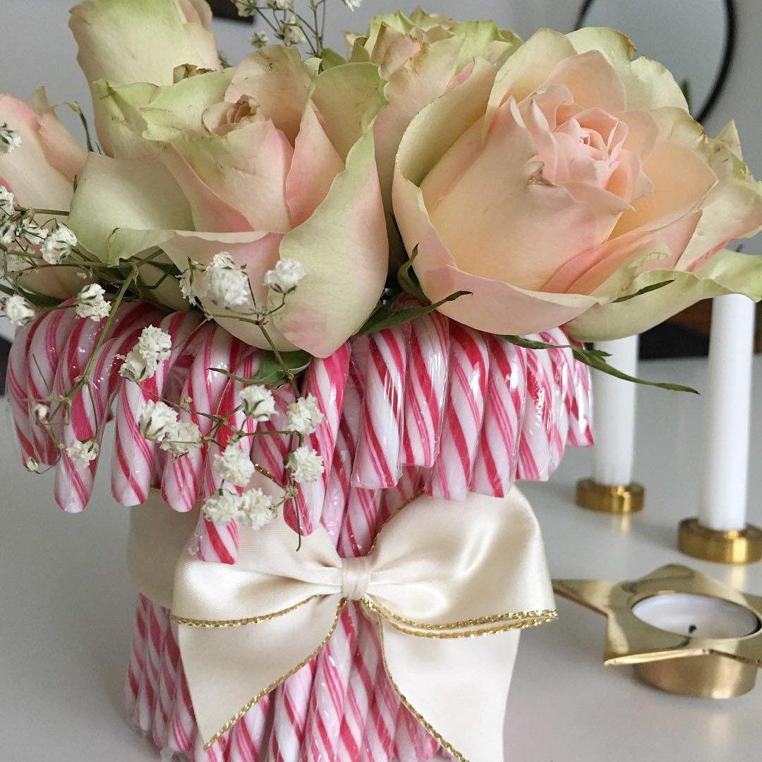 DIY Candy Cane Vase ...