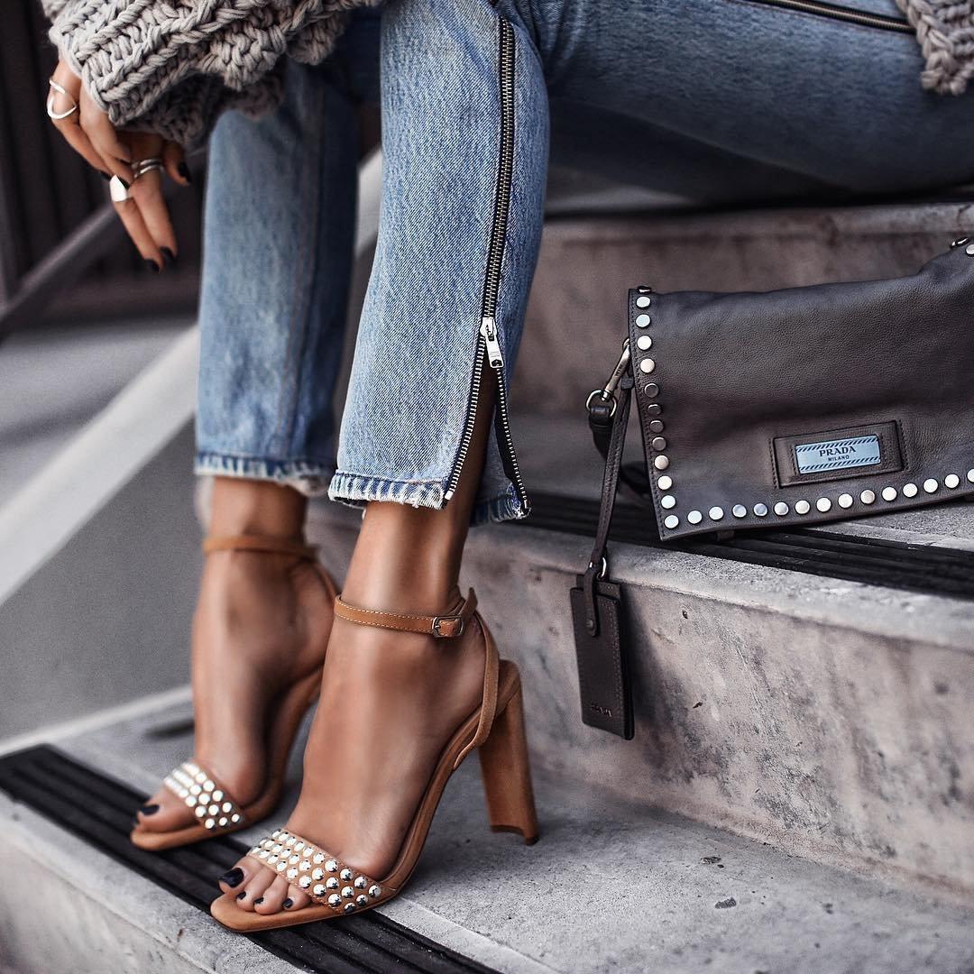 5 Beautiful Gray Prada High Heels ...